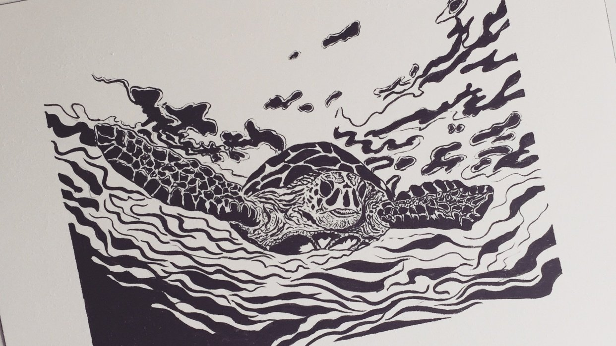 My first inking  - student project