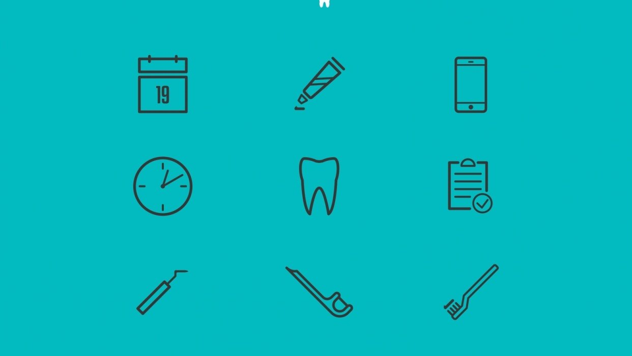 Dentistry Icons for Online Appointments - student project