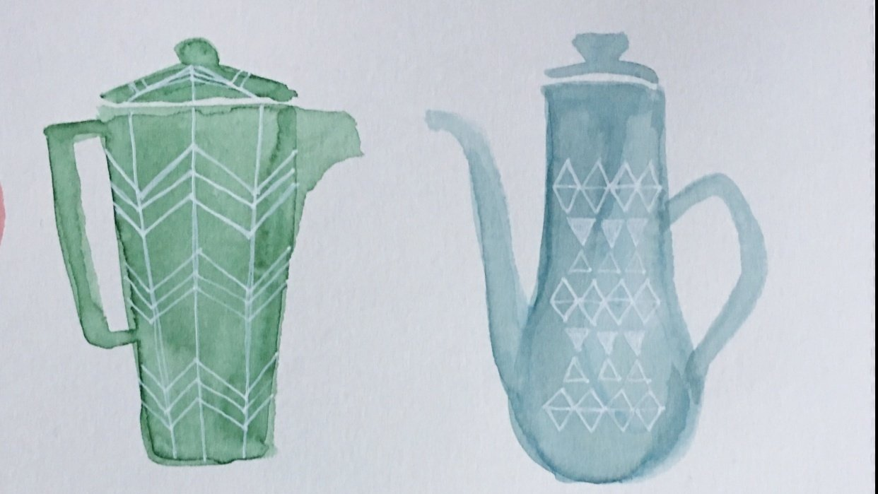 Coffee pots and cups - student project