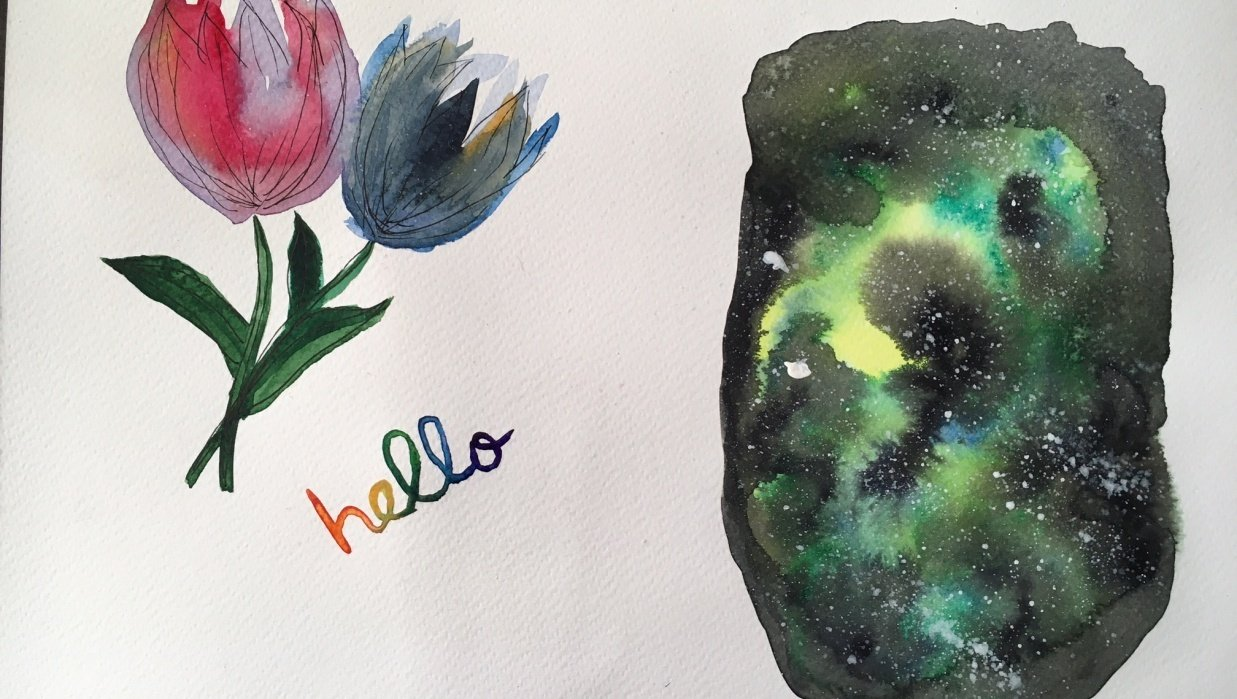Watercolor experiments - student project