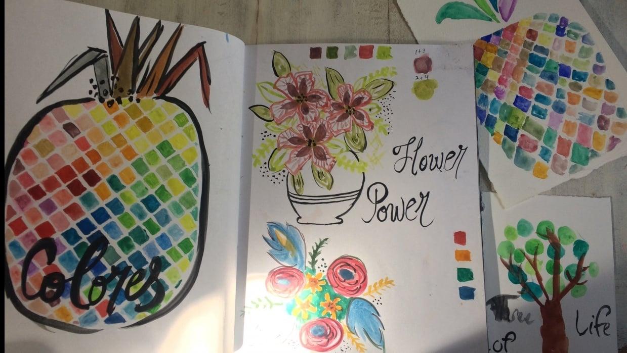Homeschool Watercolor class - student project