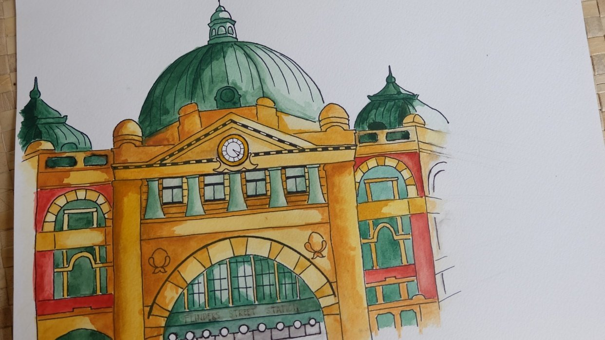 Flinders Street Station - student project
