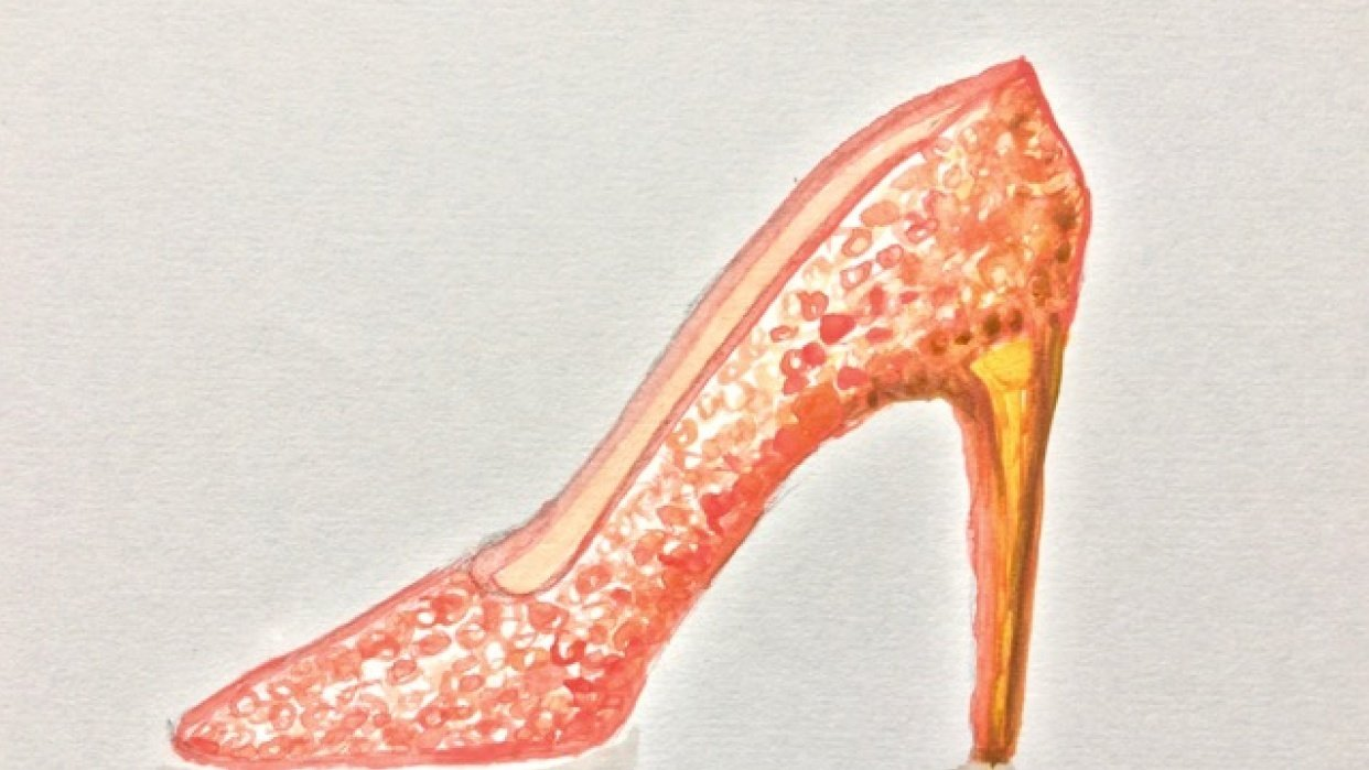 Rose gold sequin stiletto - student project