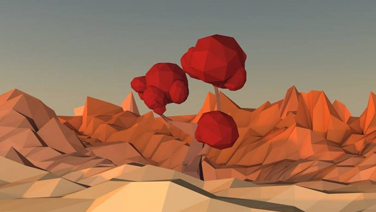 Low Poly Tree - student project