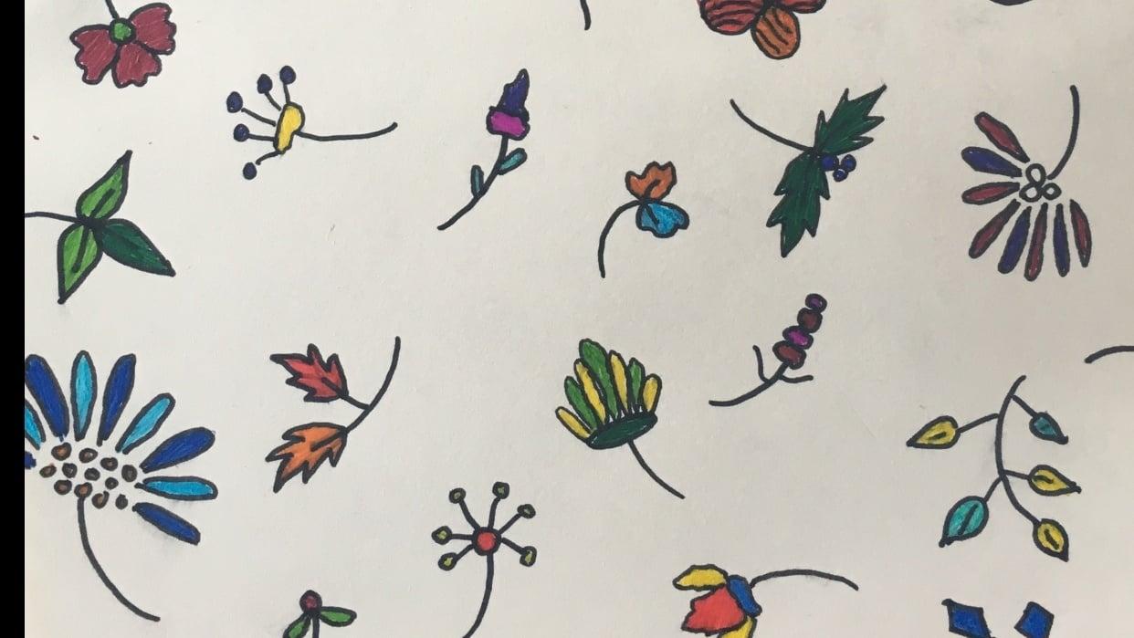 Floral Sketchbook Page - student project