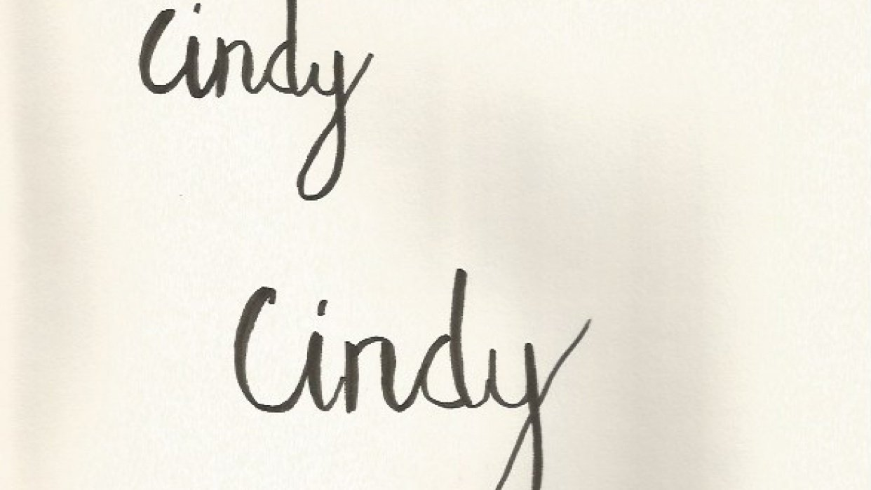 Brush Lettering my name. - student project