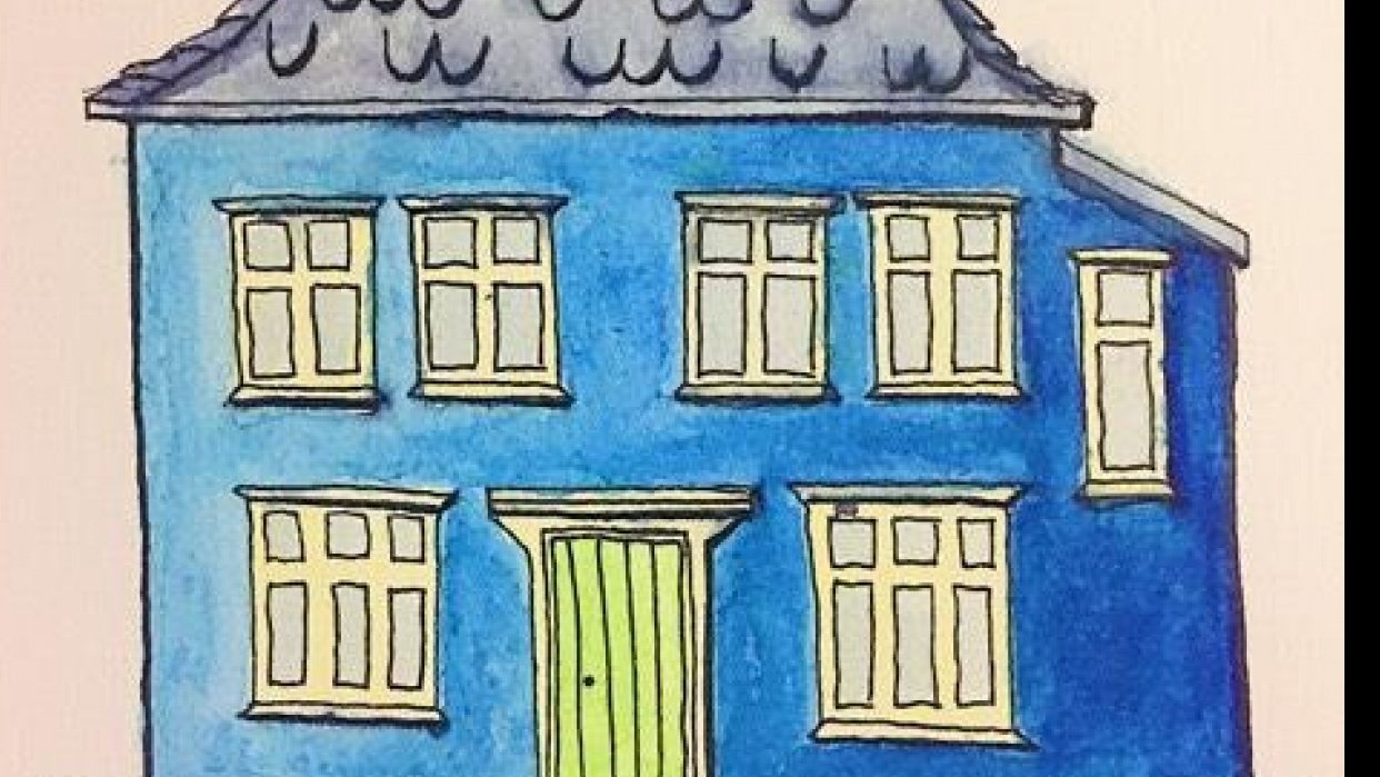Blue House from Bergen, Norway - student project