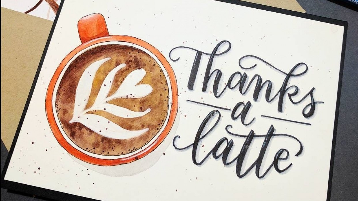 Latte Thank you Card - student project