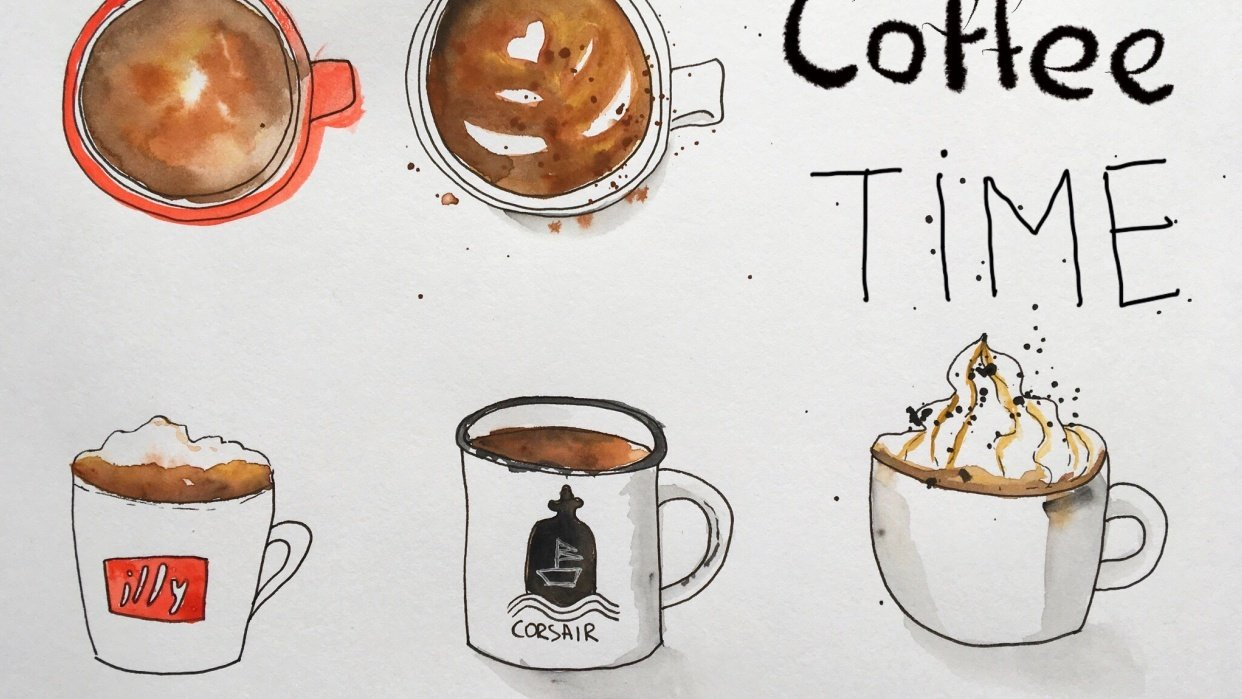 Cups of coffee  - student project