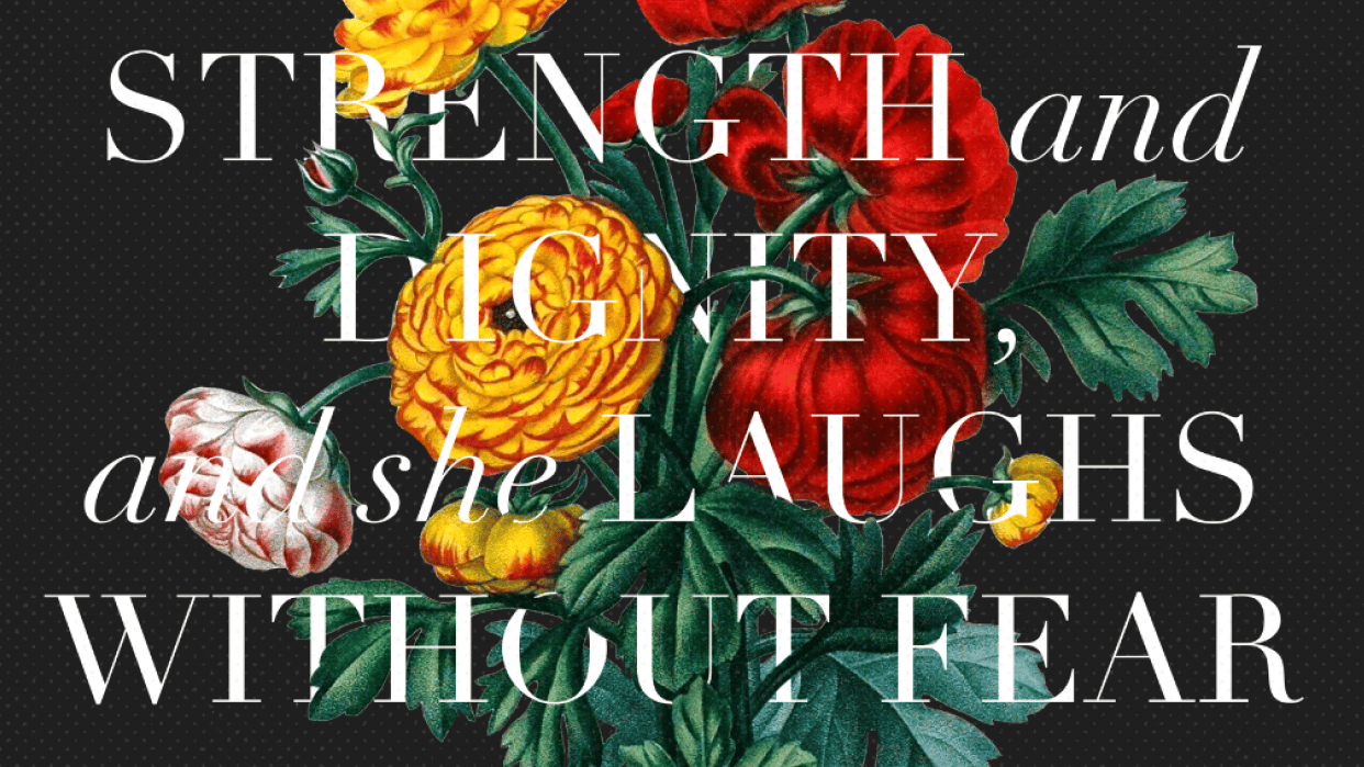 Proverbs 31:25 - student project