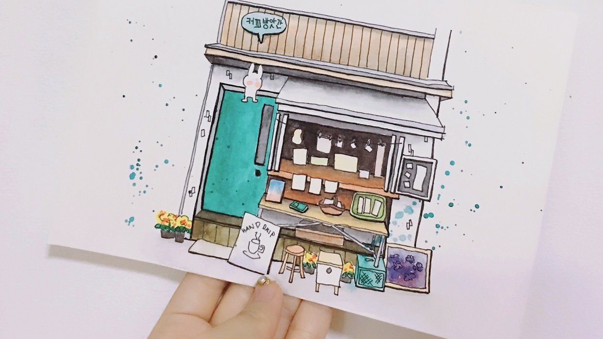 A cafe in Seoul, Korea - student project