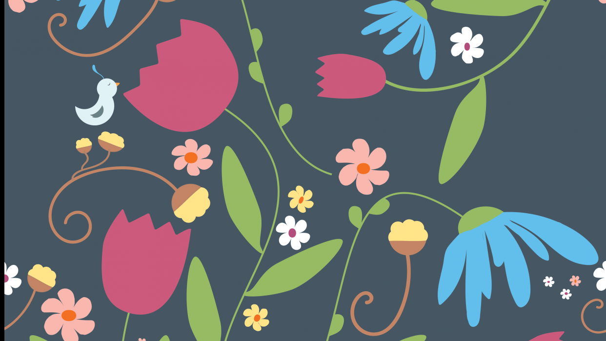 Scattered Floral - student project
