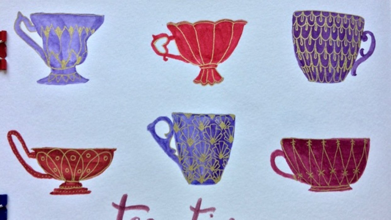 Tea cups - student project