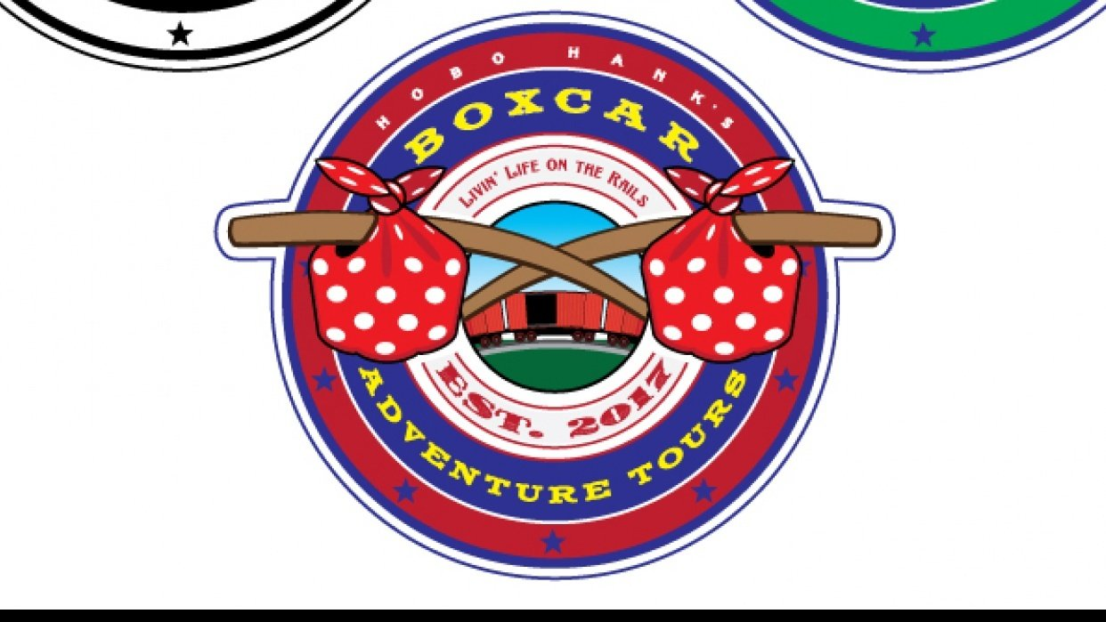 Hobo Hank's Boxcar Adventure Tours logos - student project