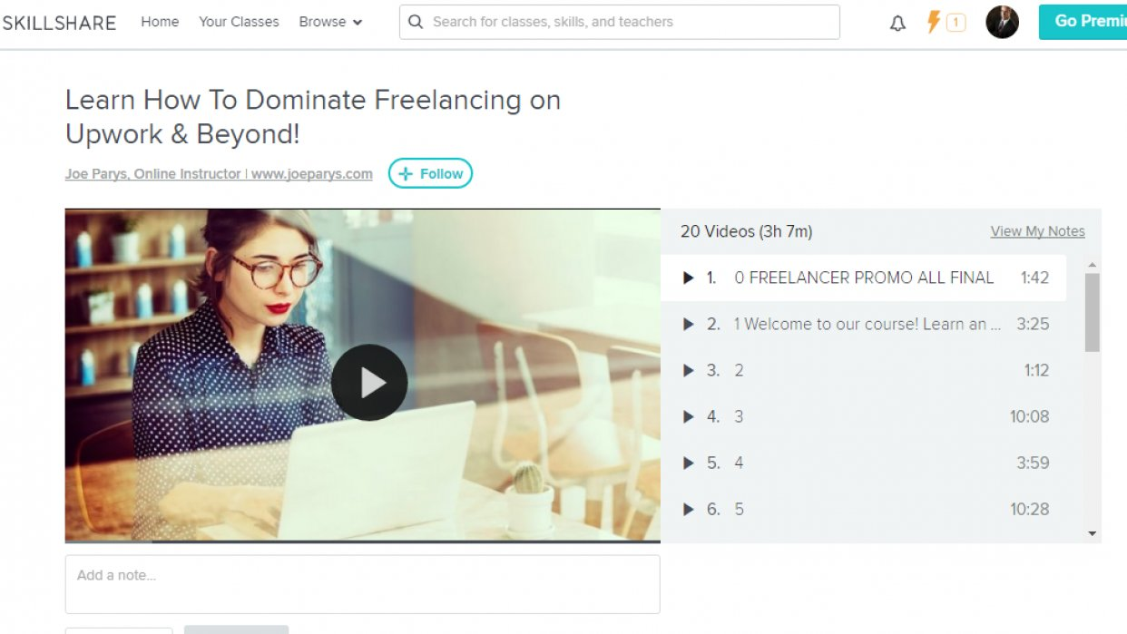 My Skillshare Courses - student project