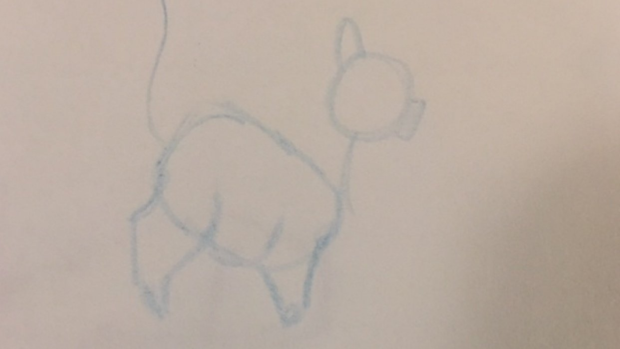 A quick sketch of my fat cat - student project