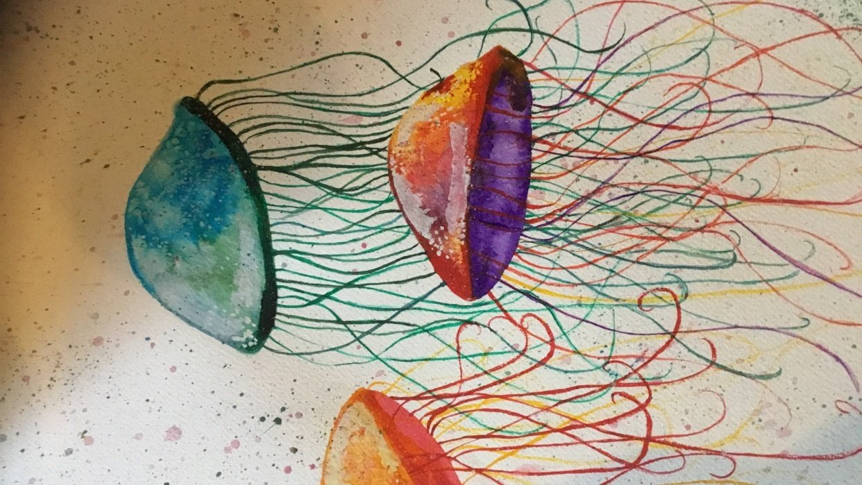 Monochrome exercice and aqua fun - student project