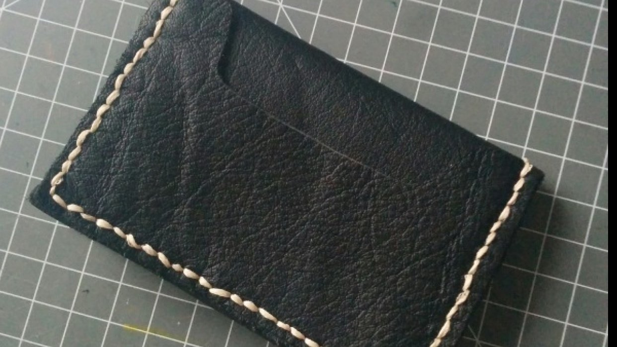 leather wallet - student project