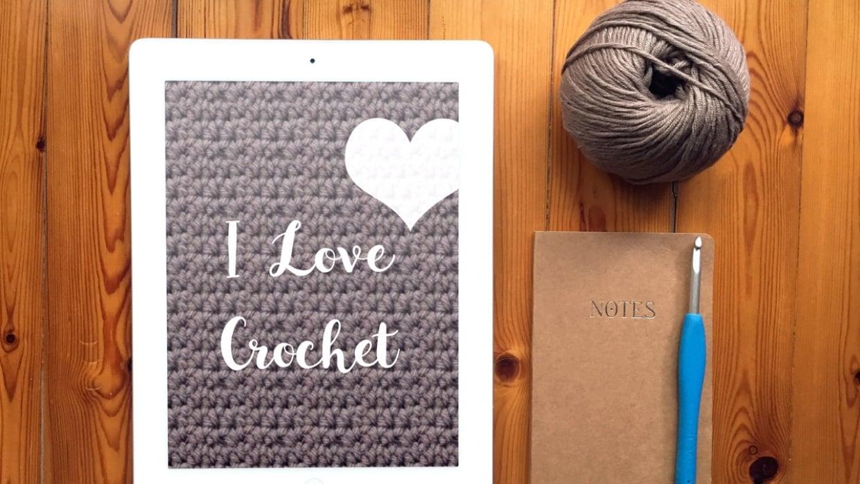 ipad mockup - I Love Crochet - student project