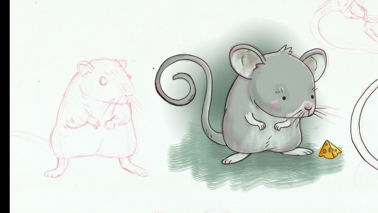 cute rat and spider - student project