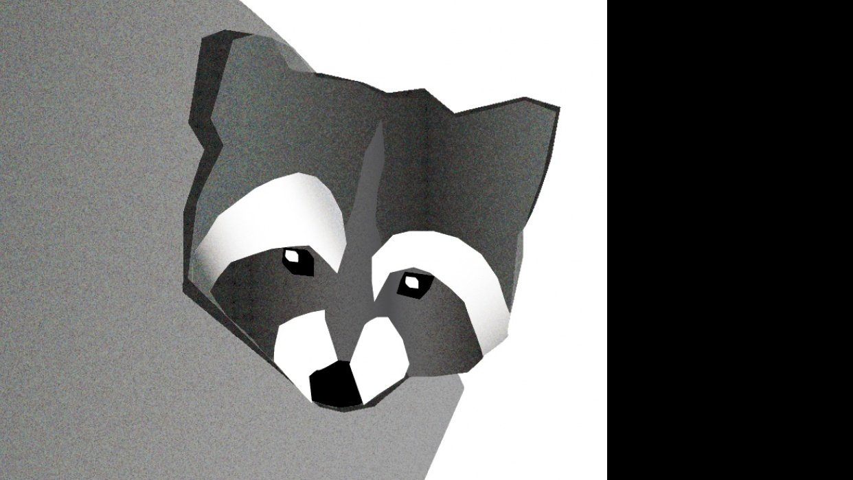 A quick illustration  of a Raccoon - student project