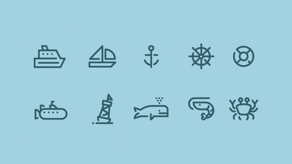Ocean Icons - student project