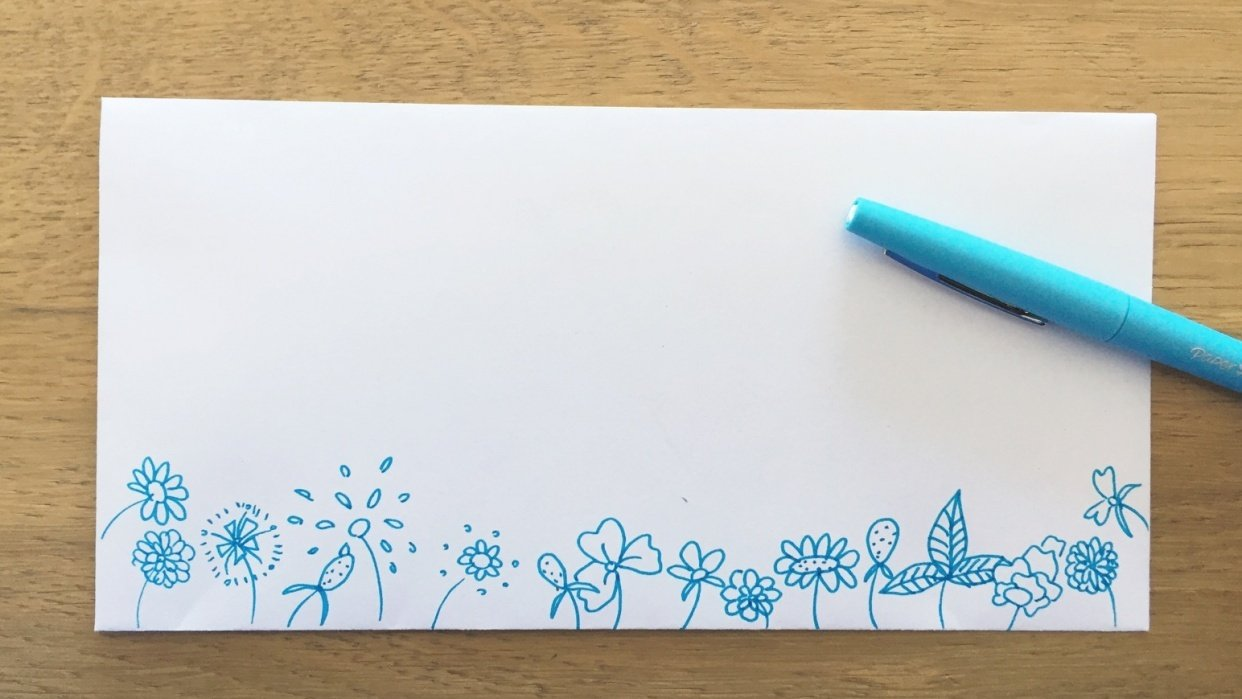 Super fun flower drawing project - student project