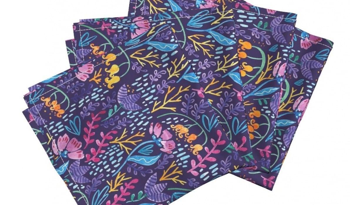 Watercolor Wonderland Flowers Pattern - student project