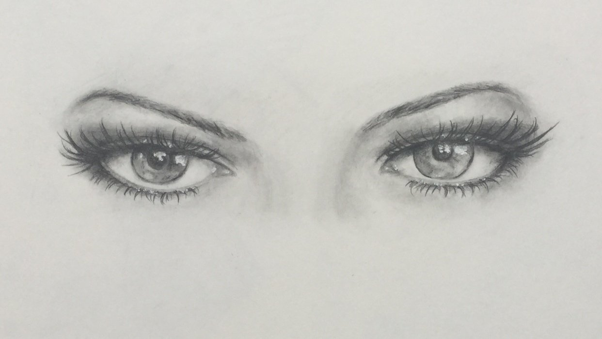 First realistic eye drawing - student project