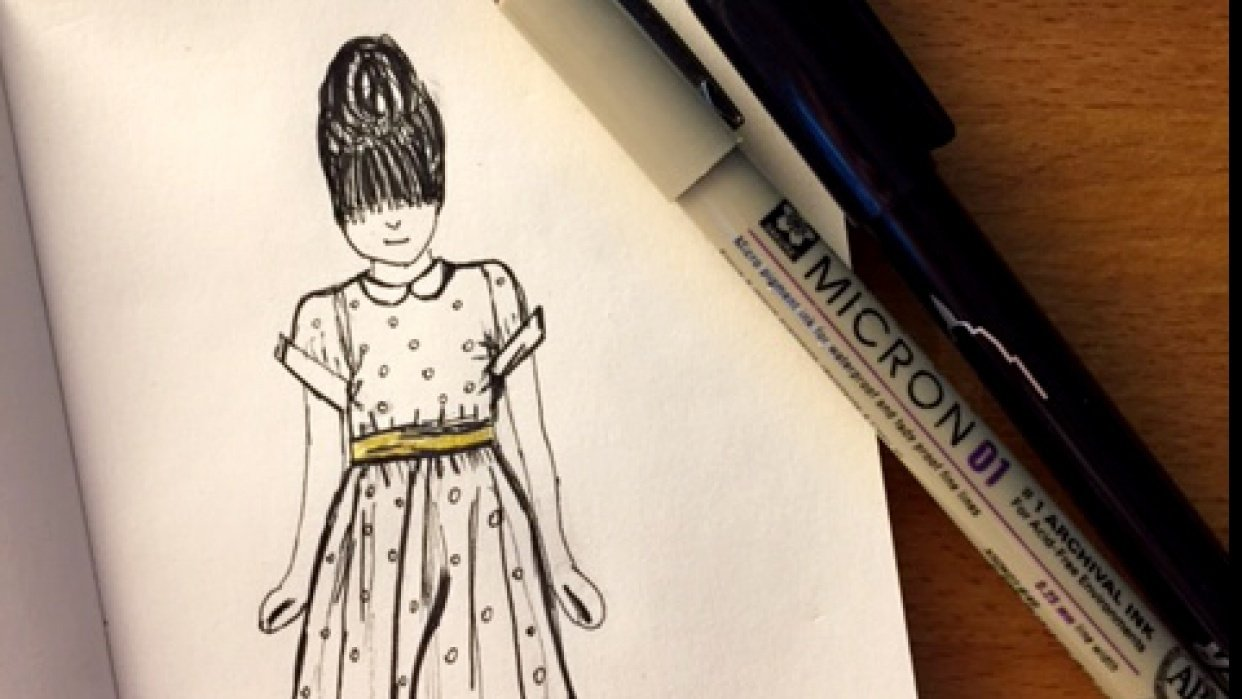 The girl in the polka dot dress - student project