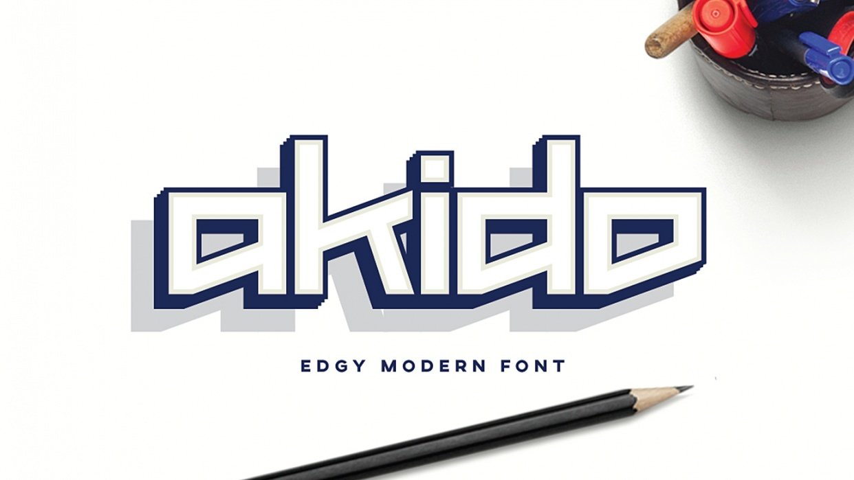 Akido Font by Alexandru Molnar - student project