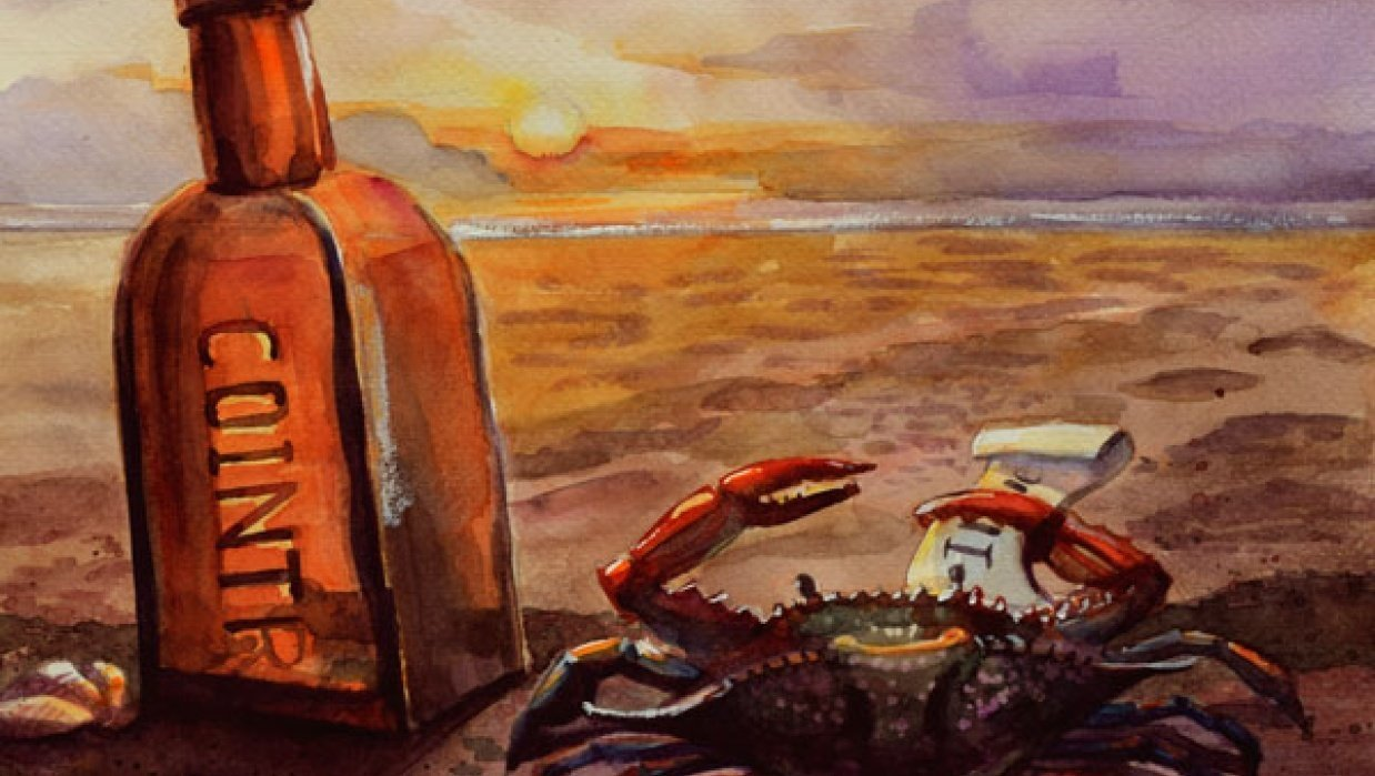 Lonely, dreaming crab - student project