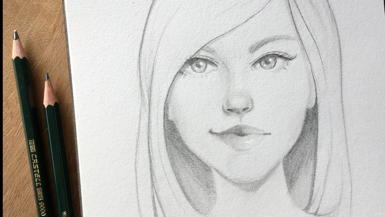 Girl sketches with Gabrielle's technique and some of my own, old habits ;) - student project