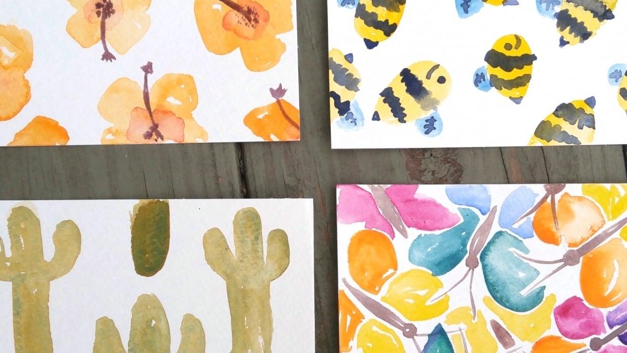 Springtime Postcards - student project
