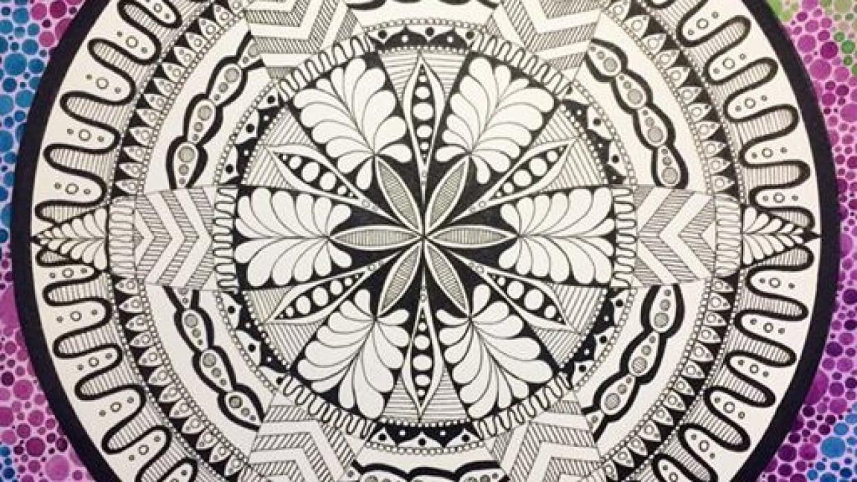 Dotty Watercolour Mandala :) - student project