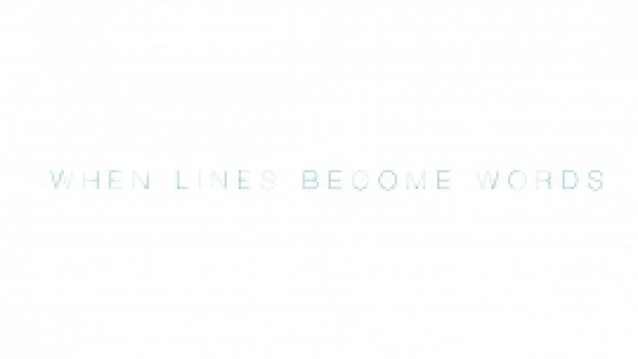 When Words Become Lines - student project