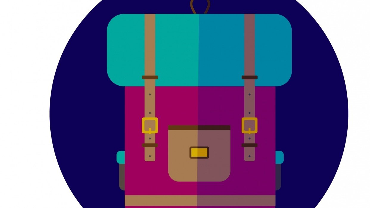 Pink Backpack - student project