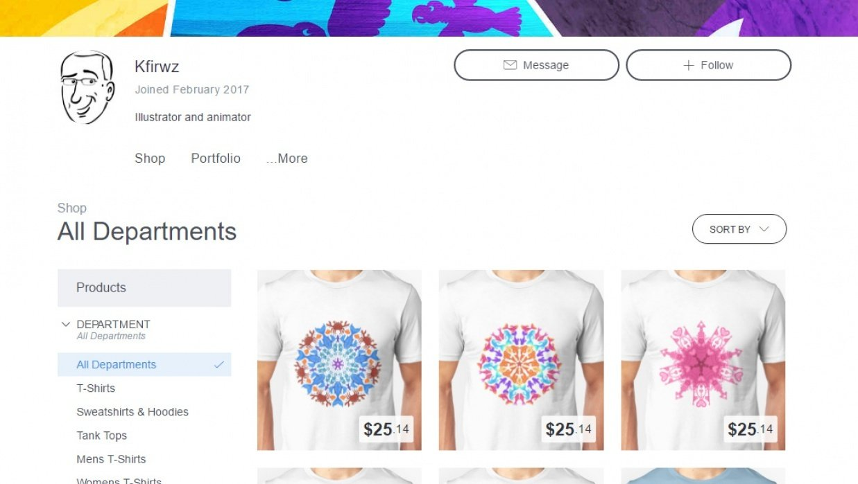My Redbubble shop - student project