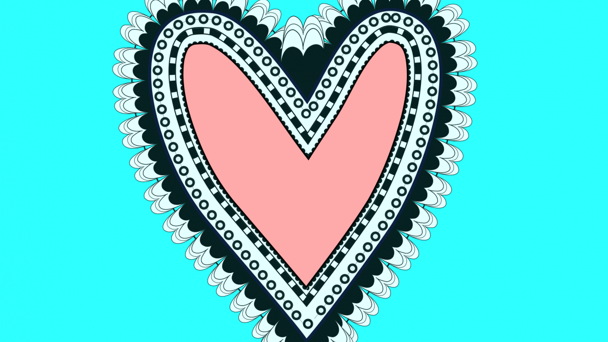 Inkscape Heart - student project