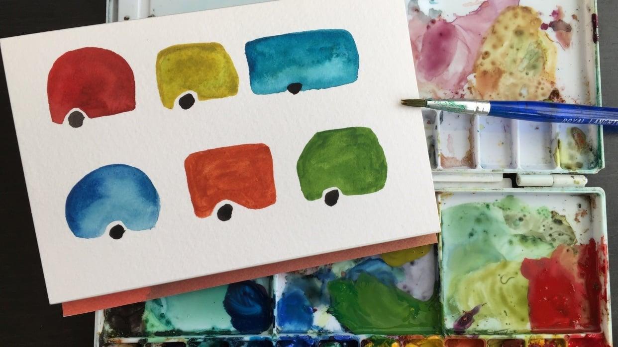 Watercolor Explorations - student project