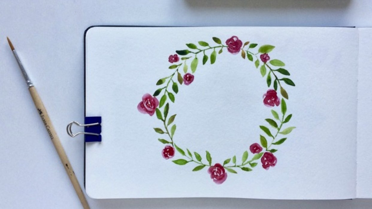 The first floral wreath - student project