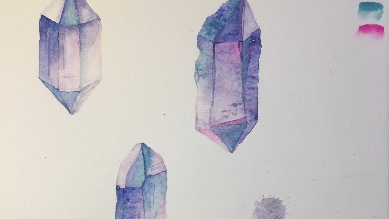 Watercolour Crystal Assignment - student project