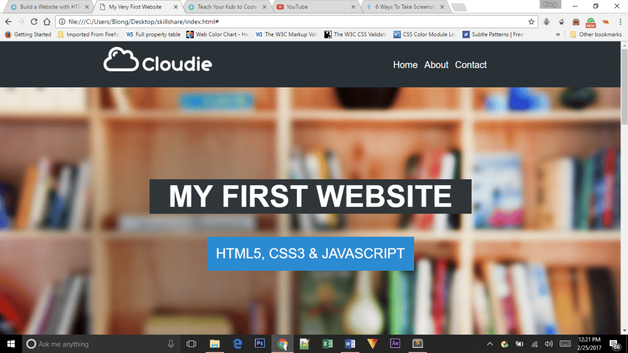 My Very First Website - student project