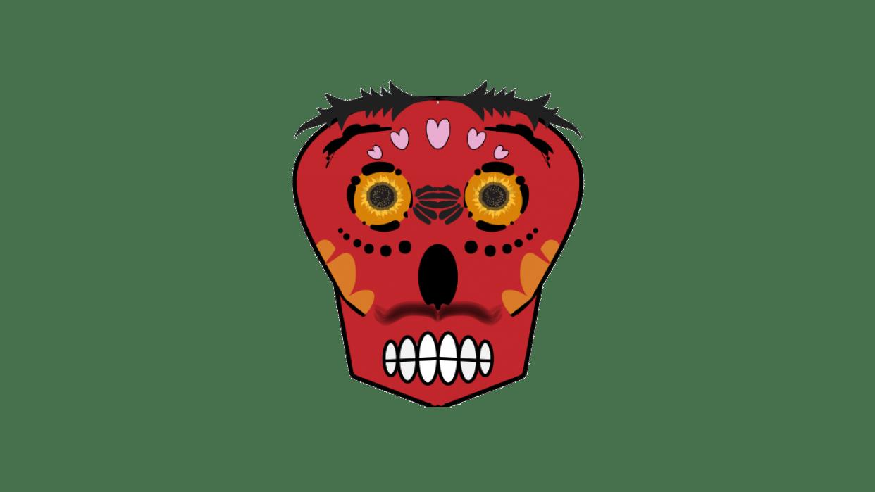 symmetrical skull - student project