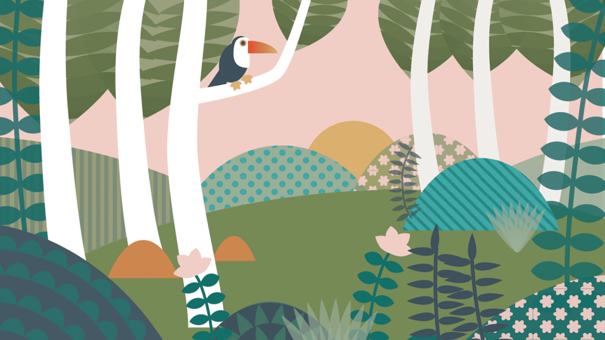 Patterned Jungle Scene - student project