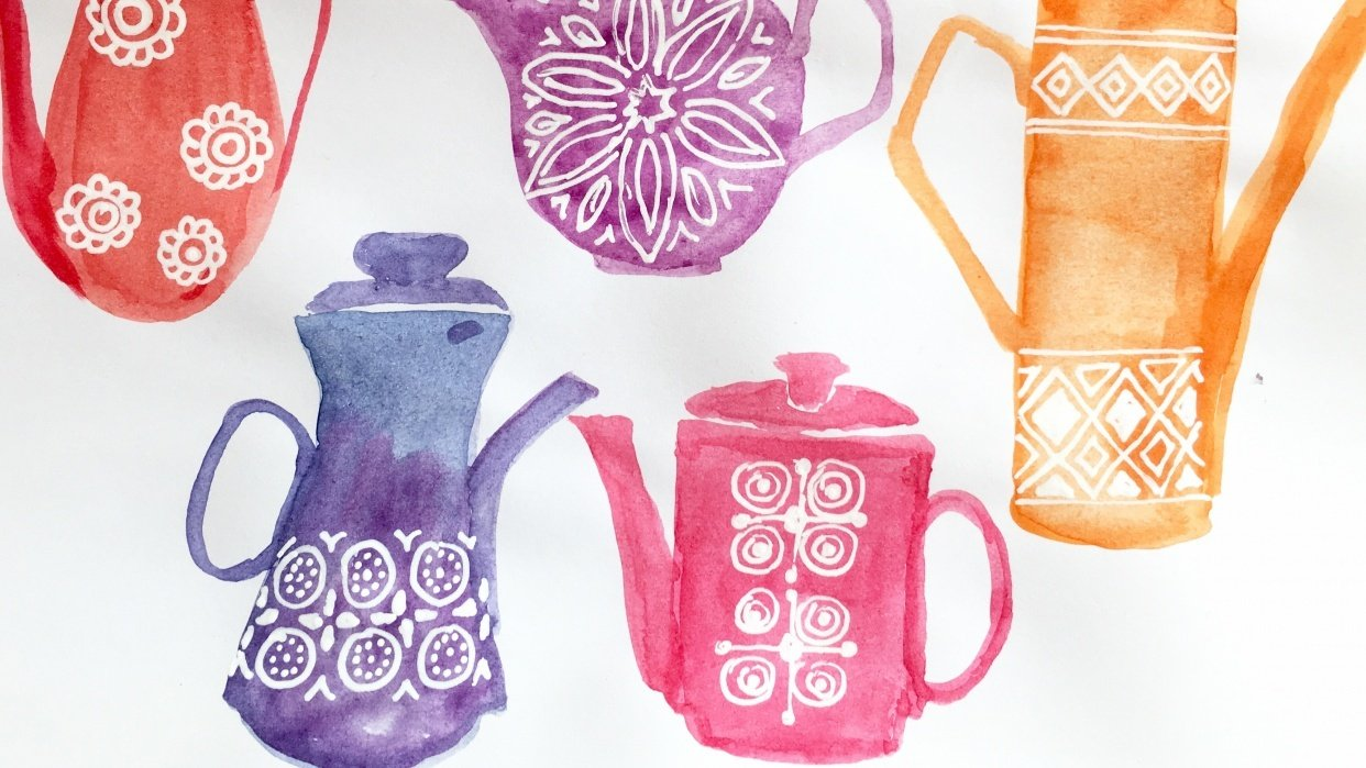 Here are my 70s coffee pots - student project
