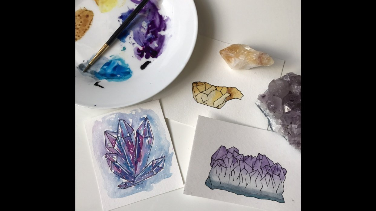 Realistic and whimsical crystals - student project