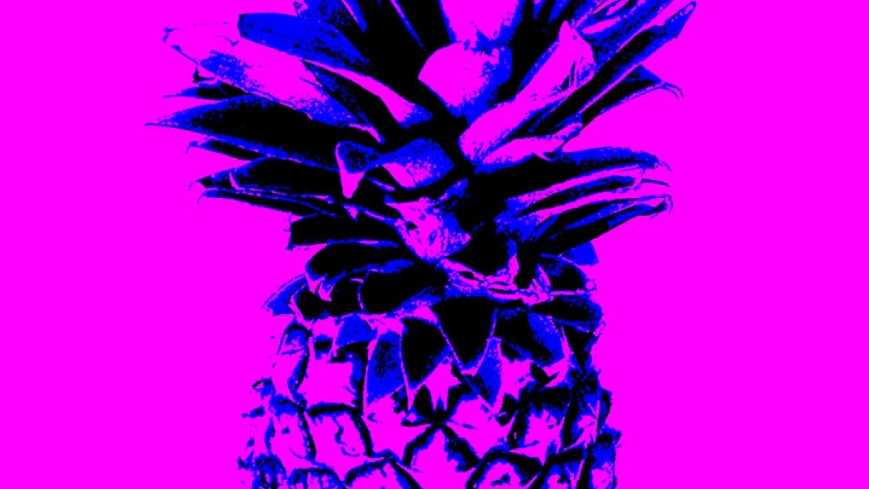 Playful play with prickly pineapples... :D - student project
