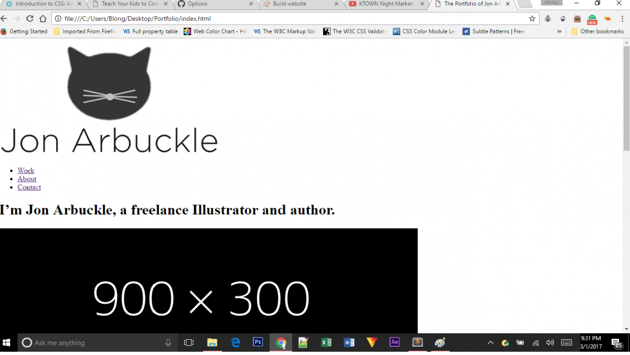 My Jon Arbuckle site - student project