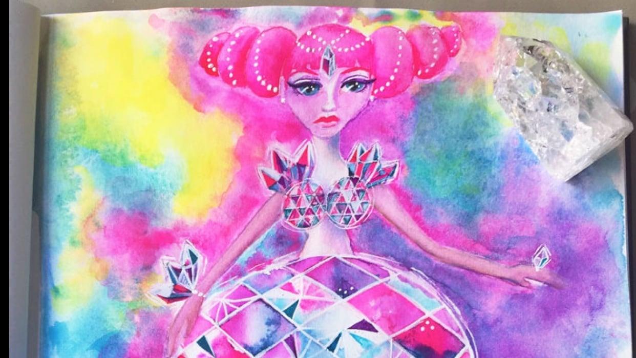 Crystal Jellyfish Mermaid - student project